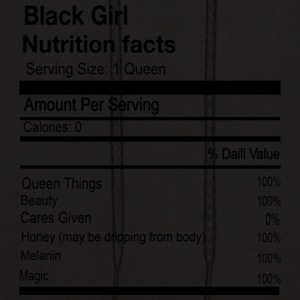 BLACK GIRL NUTRITION FACTS - Men's Hoodie