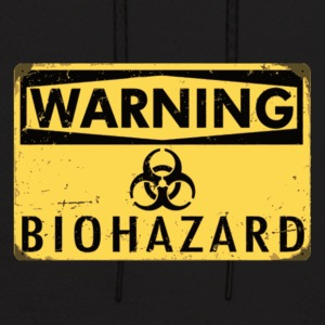 Warning Biohazard - Men's Hoodie