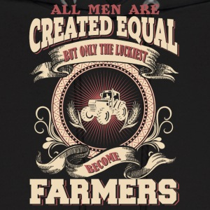 The Luckiest Men Become Farmers - Men's Hoodie