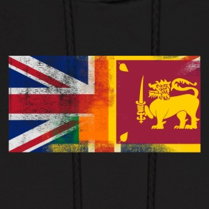 British Sri Lankan Half Sri Lanka Half UK Flag - Men's Hoodie