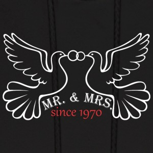 Mr And Mrs Since 1970 Married Marriage Engagement - Men's Hoodie