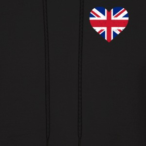 UK Flag Shirt Heart - Brittish Shirt - Men's Hoodie