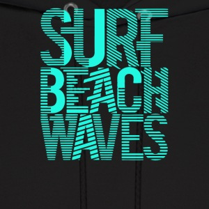 Surf beach waves - Men's Hoodie