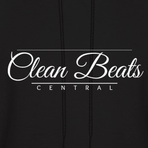 Clean Beats Central Formal Logo (White Text) - Men's Hoodie