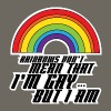 Rainbows Don't Mean That I'm Gay But I Am LGBT - Men's Hoodie