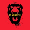 12 Monkeys Scream Stencil Tv Series 2015 - Men's Hoodie