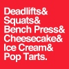 Deadlifts & Squats & Bench Press & Cheesecake & Ic - Men's Hoodie