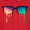 Abstract Psychedelic Nerd Glasses with Color Drops - Men's Hoodie