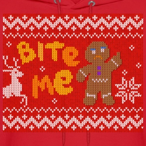 Ugly Christmas Sweater: Bite Me Gingerbread Man