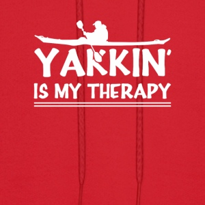 Yakkin Is My Therapy Funny Kayaking Shirt - Men's Hoodie