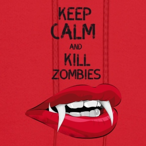 Zombie dracula scary Horror keep calm kill hallowe - Men's Hoodie