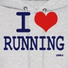 i love running by wam - Men's Hoodie