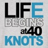 Life begins at 40 knots! - Men's Hoodie