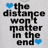 Distance Won't Matter in the End Blue Hearts - Men's Hoodie