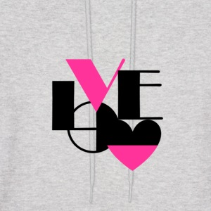 Love Black and Pink - Men's Hoodie