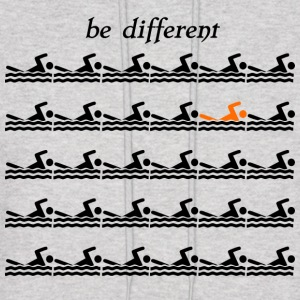 Be different Swimmer Swimmershirt - Men's Hoodie