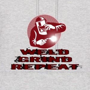 WELD GRIND REPEAT-BURGUNDY - Men's Hoodie