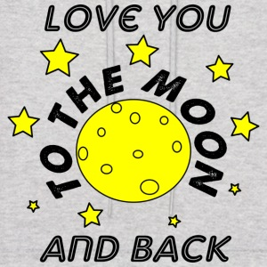love you to the moon and back - Men's Hoodie