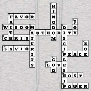 Inspirational Crossword Tee - Men's Hoodie