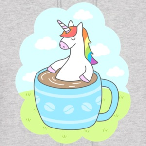 Unicorn Coffee Gift Shirt High Quality - Men's Hoodie