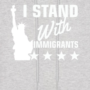 Pro immigration statue of liberty shirt - Men's Hoodie