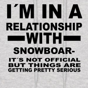 relationship with SNOWBOARDING - Men's Hoodie