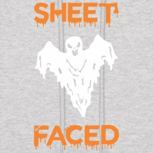 Sheet Faced Boo Halloween - Men's Hoodie