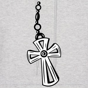 Cross, Crucifix with gemstone. - Men's Hoodie