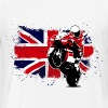 MotoGP - Superbike - UK Flag - Fitted Cotton/Poly T-Shirt by Next Level