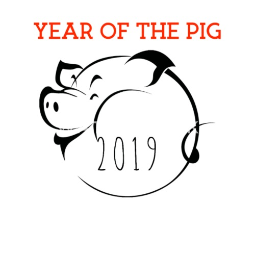 Chinese New Year 2019 Tshirt Year Of The Pig Unisex Poly Cotton T