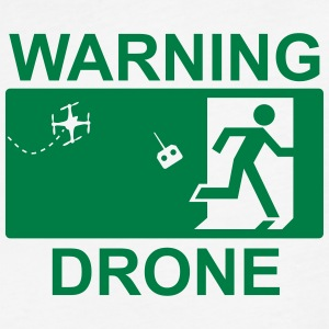 Exit Warning Drone - Fitted Cotton/Poly T-Shirt by Next Level