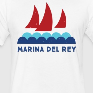 marina del rey - Fitted Cotton/Poly T-Shirt by Next Level