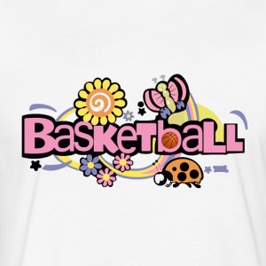 Basketball Pink T Shirt - Fitted Cotton/Poly T-Shirt by Next Level