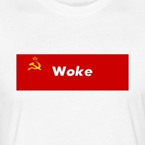 Communism Woke - Fitted Cotton/Poly T-Shirt by Next Level
