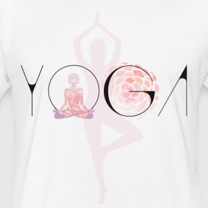 yoga namaste Lotus Buddha india yogi Karma gym lol - Fitted Cotton/Poly T-Shirt by Next Level