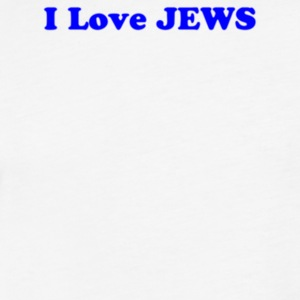 I Love JEWS - Fitted Cotton/Poly T-Shirt by Next Level
