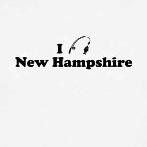 new hampshire fishing - Fitted Cotton/Poly T-Shirt by Next Level