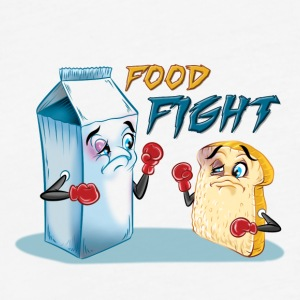 Food Fight Punny - Fitted Cotton/Poly T-Shirt by Next Level