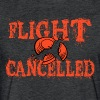 Flight Cancelled - Fitted Cotton/Poly T-Shirt by Next Level