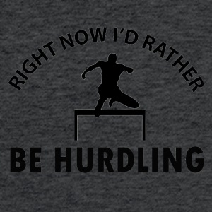 Hurdling design - Fitted Cotton/Poly T-Shirt by Next Level
