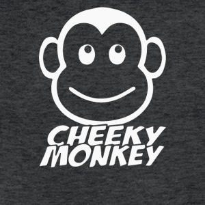 Cheeky Monkey Funny - Fitted Cotton/Poly T-Shirt by Next Level