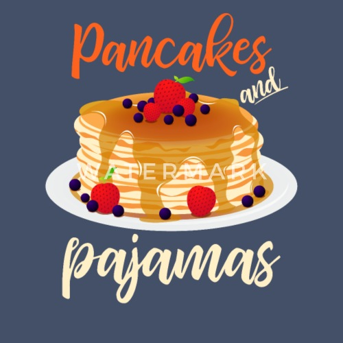 Pancakes And Pajamas Funny T Shirt For Food Lovers Unisex Poly