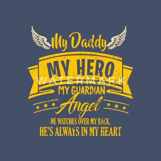 Papa Memory Death RIP Guardian Angel Gift Unisex Poly Cotton