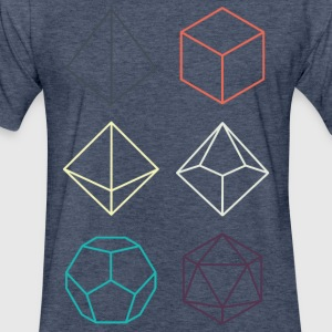 Minimal dnd (dungeons and dragons) dice - Fitted Cotton/Poly T-Shirt by Next Level