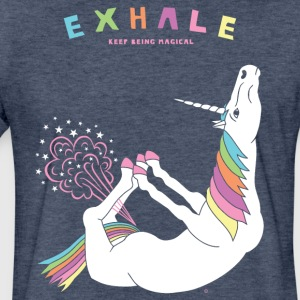 Bow Pose Unicorn Exhale - Fitted Cotton/Poly T-Shirt by Next Level