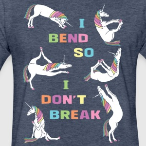 I Bend So I Don t Break 6 Unicorns Bold Font - Fitted Cotton/Poly T-Shirt by Next Level
