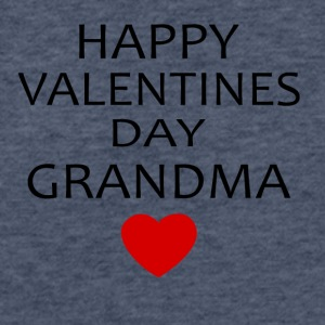 Hapy Valentines Day Grandma - Fitted Cotton/Poly T-Shirt by Next Level