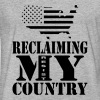 Reclaiming My Country - Fitted Cotton/Poly T-Shirt by Next Level
