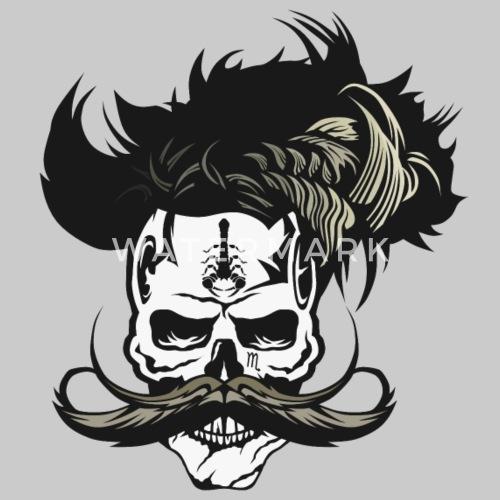 Skull Hipster Mustachio Mustache Scorpion Tattoo P Unisex Poly