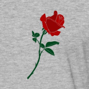 red rose - Fitted Cotton/Poly T-Shirt by Next Level